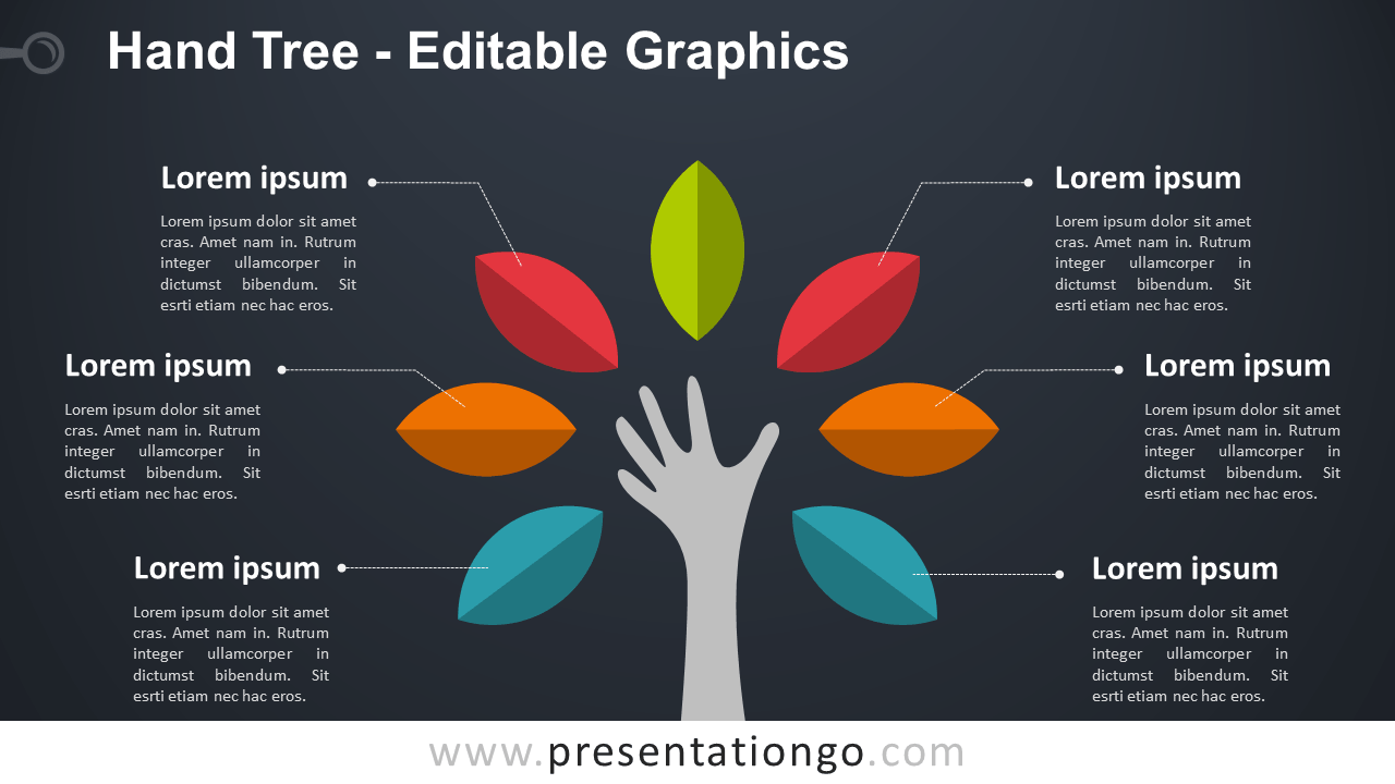 hight resolution of hand tree powerpoint diagram dark background widescreen size 16 9