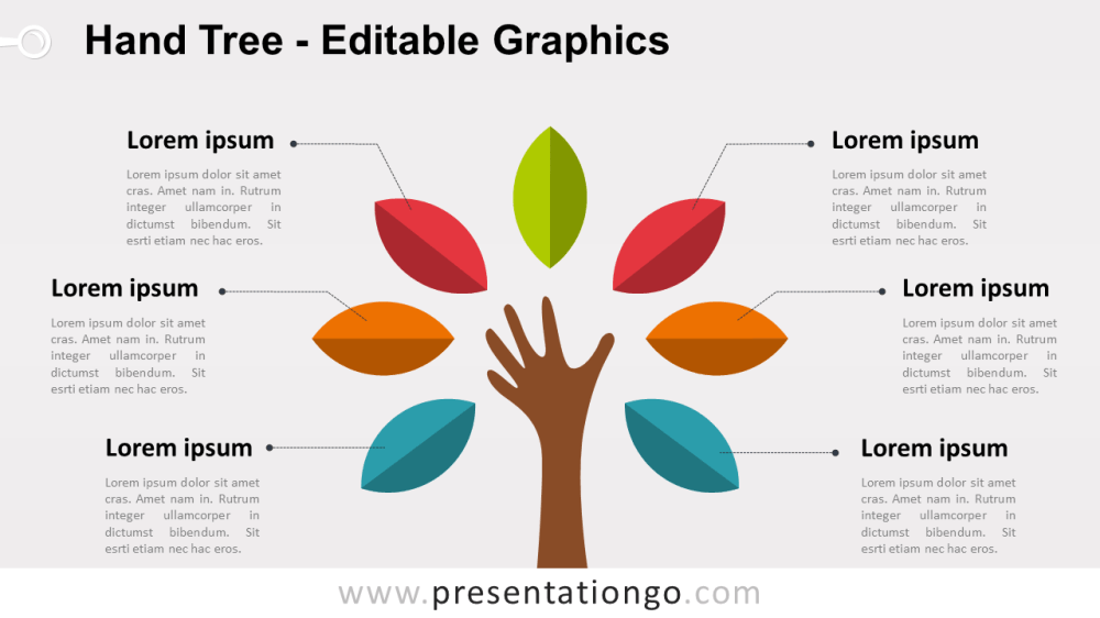 medium resolution of hand tree powerpoint diagram widescreen size 16 9