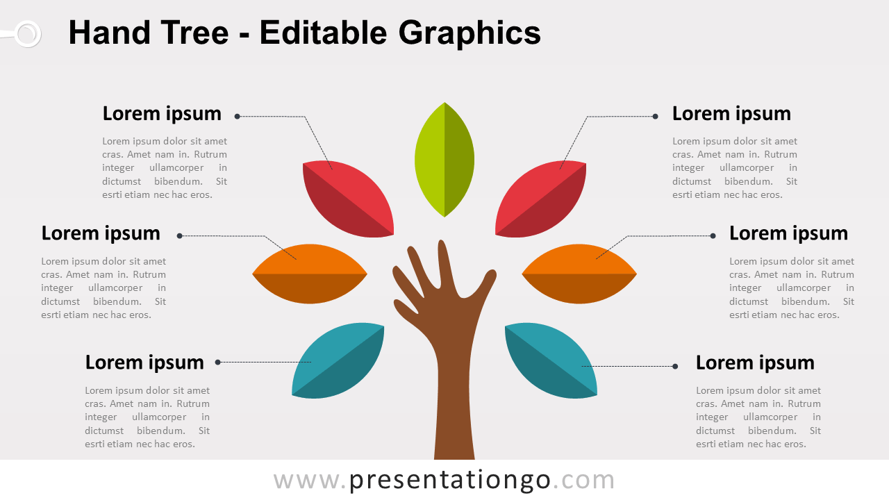 hight resolution of hand tree powerpoint diagram widescreen size 16 9