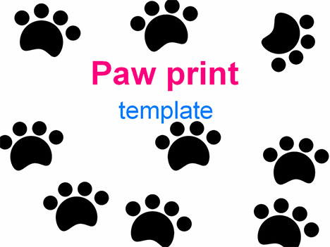Paw prints template