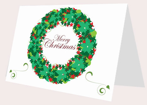 Christmas Wreath Card