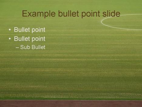 Football Stadium PowerPoint Template