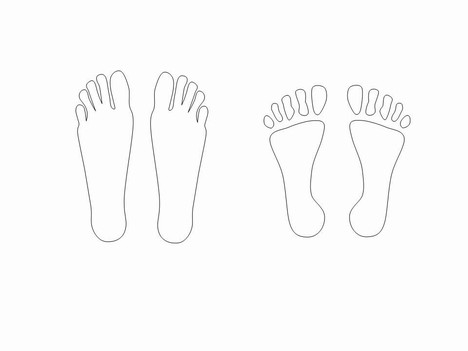Hands and Feet Template