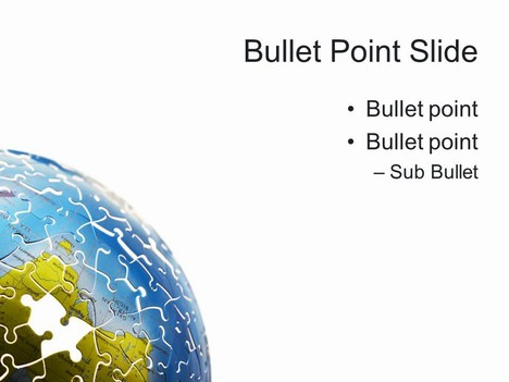 World Puzzle PowerPoint Template