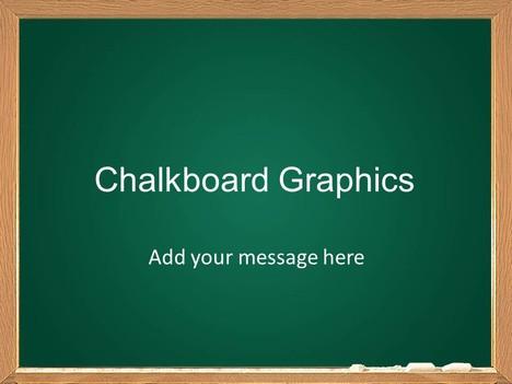 chalkboard graphics template