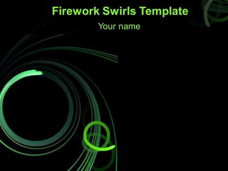 Black Dot Wallpaper Abstract Firework Swirls Powerpoint Template