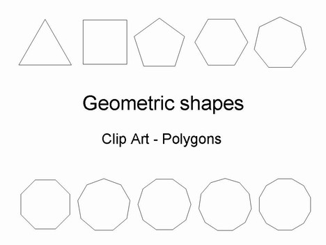Geometric Shapes Template