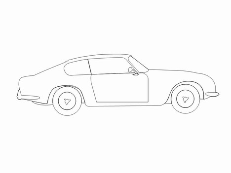 car outlines template