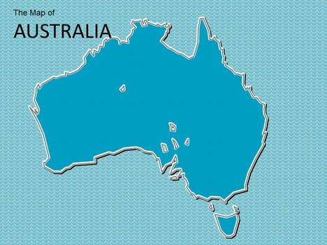 Map Of Australia Template