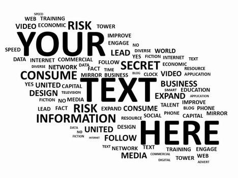White cloud of words PowerPoint