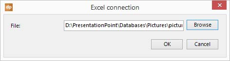 select the excel file that you want to link