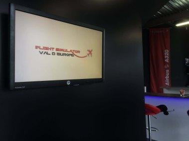 Airport flight information screens for flight simulator service 6