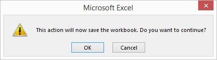 save workbook after changes