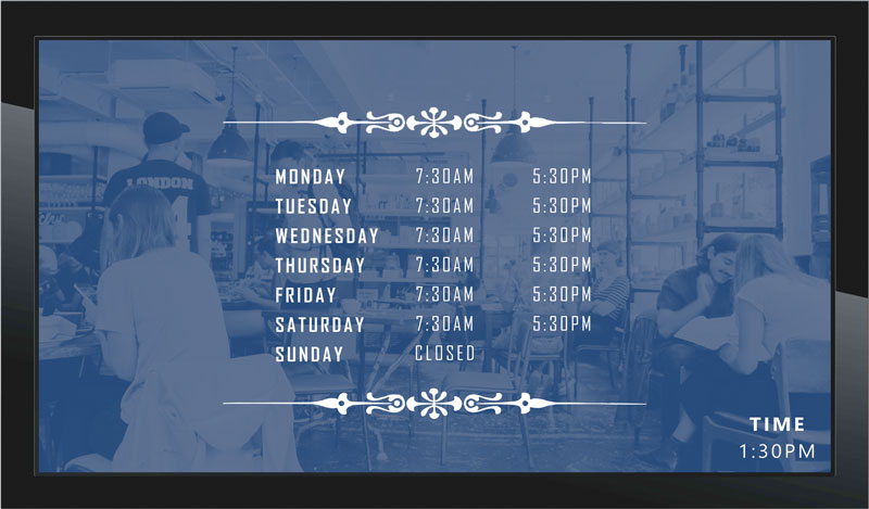 Free digital signage templates page