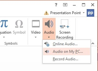 choose audio on my pc