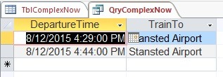 time restricted complex now query results