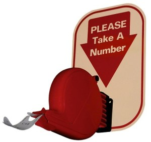 number dispenser for waiting queue, take a number