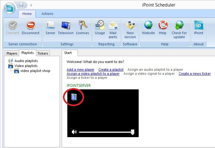 click playlists assignment button