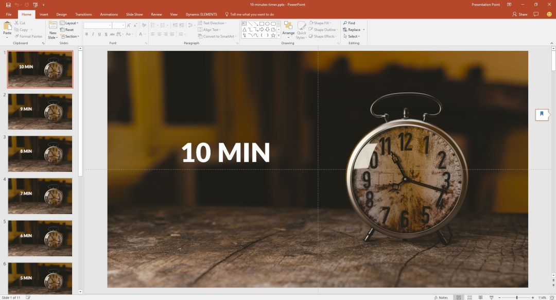 manual timer in powerpoint with automatic transitions