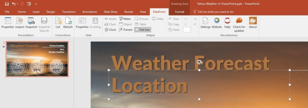 location text box