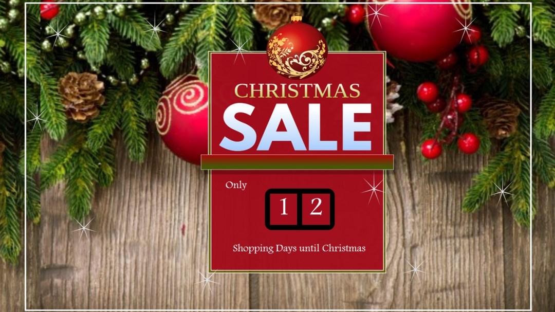 free Christmas slide with countdown to christmas