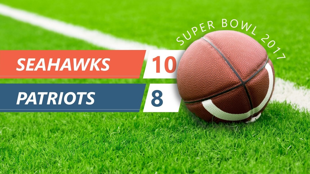 superbowl slideshow with dynamic scores