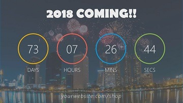 Countdown to New Year in PowerPoint