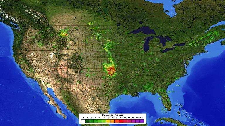 Live Doppler Radar Image in PowerPoint