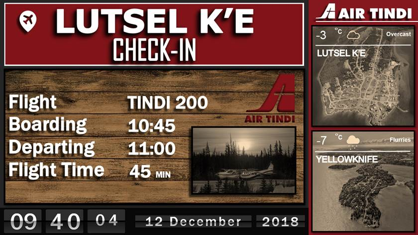 Airline schedules from Air Tindi