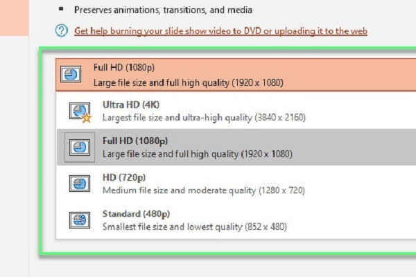 How to Export Presentation to Video