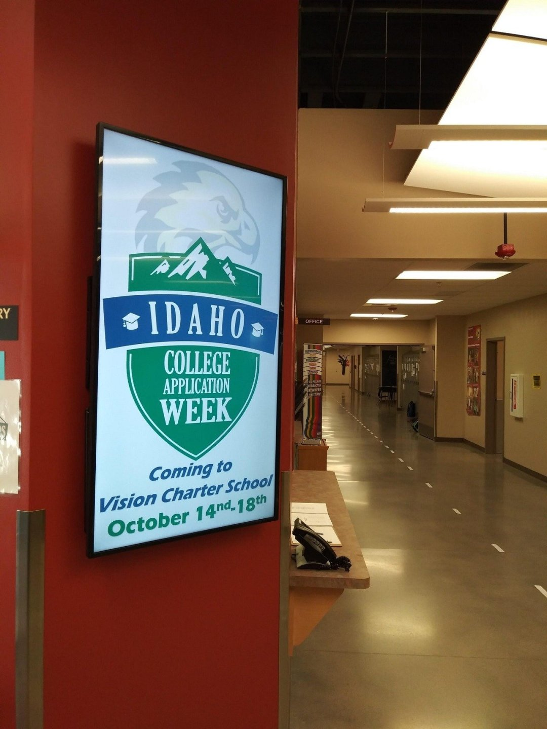 school information on digital signage displays