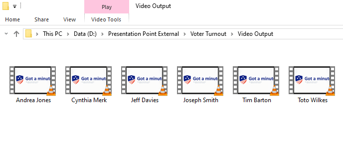 video output screenshot