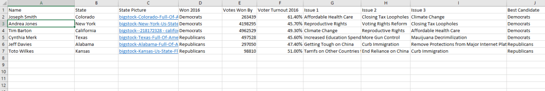 voter turnout excel screenshot