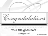 Congratulations PowerPoint template background in Holiday