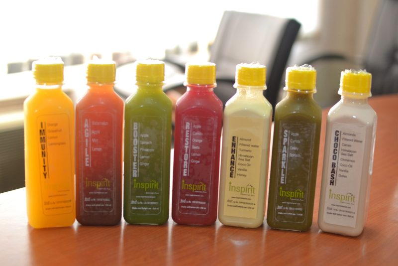 inspirit cleanse cold pressed juice