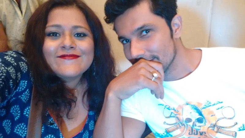randeep hooda with blogger Poorna Banerjee