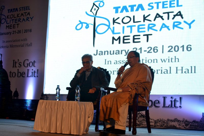 Amartya Sen and Sugata Bse in Kolkata Literary Meet