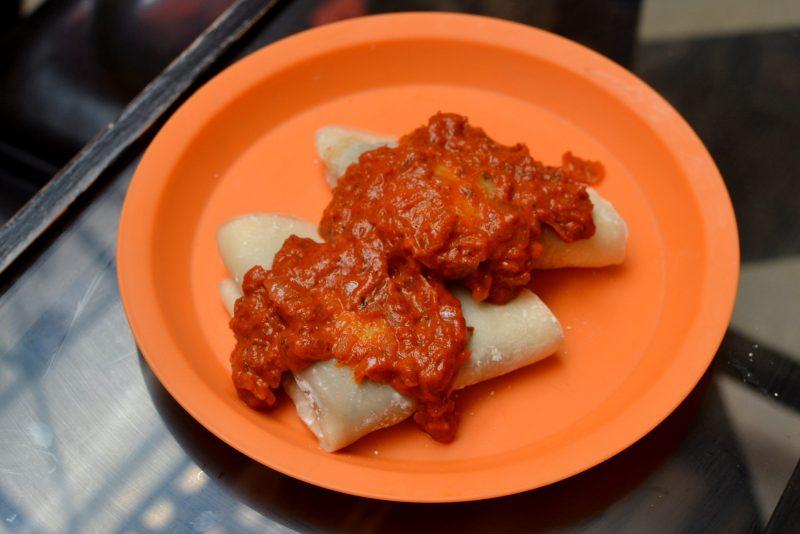 Achari Chicken Crepe with Kadai Sauce