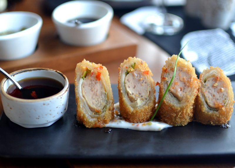 Asian Style Chicken and Glass Noodle Spring Roll, Studio Dressing