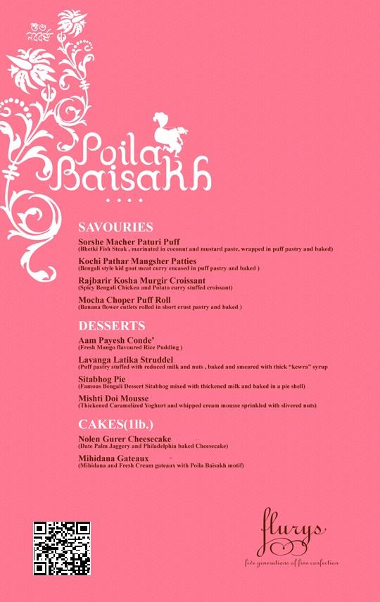 flurys poila boishakh menu