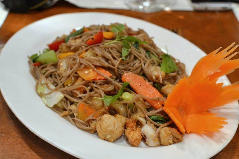 Kimao Soba Thalay - Stir fried Seafood and Soba Noodles