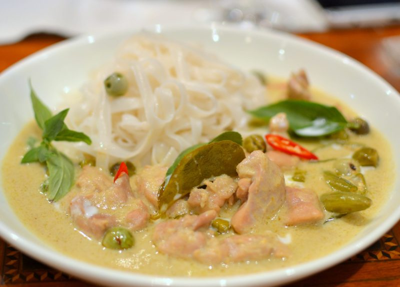 Green Curry Chicken with Noodles