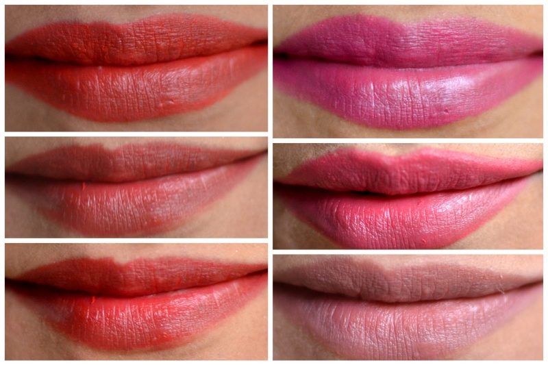 Lakme Enrich Lip Crayon Lip Swatches on Indian Skin
