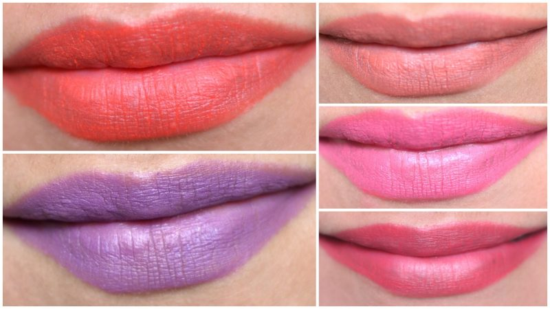 Lakme Absolute Lip Pouts Matte Masaba Lip swatches