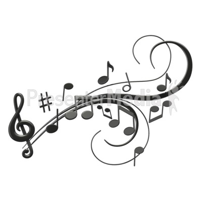 music notes swoosh - signs