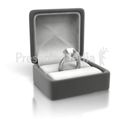 Diamond Ring White Gold Silver Presentation Clipart