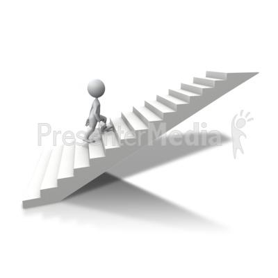 stick figure climbing up