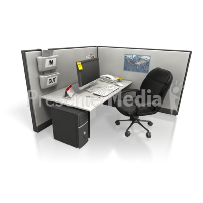 empty cubicle angle two - presentation