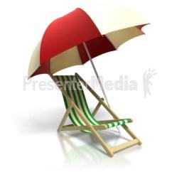 Beach Chair And Umbrella Clipart Disposable Covers Amazon Presentation Great For Presentations Www Presentermedia Com