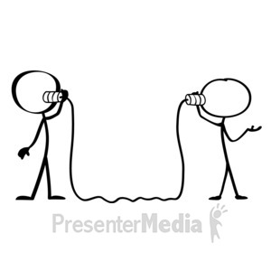 Stick Figure Talking With Hands at PresenterMedia